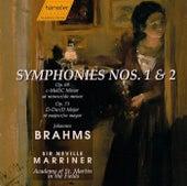 Symphony No. 1, Op. 68, Symphony No. 2 Op. 73 by Johannes Brahms