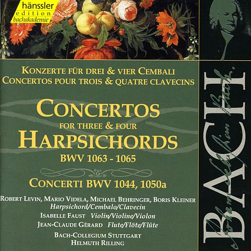 Johann Sebastian Bach: Concertos For Three & Four Harpsichords, BWV 1063 - 1065 by Bach-Collegium Stuttgart