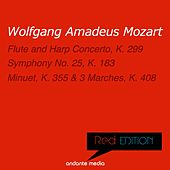 Red Edition - Mozart: Flute and Harp Concerto, K. 299 & Symphony No. 25, K. 183 by Various Artists