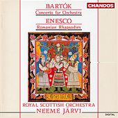 BARTOK / ENESCU: Concerto for Orchestra / Romanian Rhapsodies by Neeme Jarvi