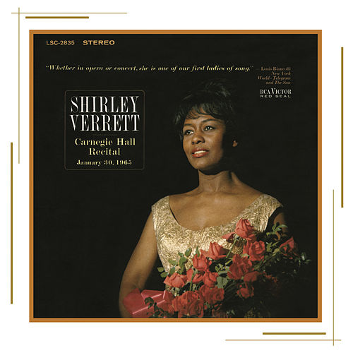 Shirley Verrett at Carnegie Hall, New York City, January 30, 1965 by Shirley Verrett