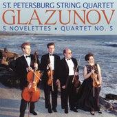 GLAZUNOV, A.: 5 Novelettes / String Quartet No. 5 (St. Petersburg String Quartet) by St. Petersburg String Quartet