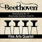 Beethoven: String Quartets No. 7-9 (Razumovsky Quartets), 10 and 14 by Fine Arts Quartet