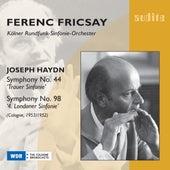 Joseph Haydn: Symphony No. 44 & No. 98 by WDR Sinfonieorchester Köln Ferenc Fricsay