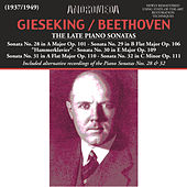 Beethoven: The Late Piano Sonatas (Live) by Walter Gieseking