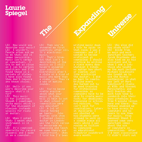 Play & Download The Expanding Universe by Laurie Spiegel | Napster