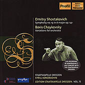 Play & Download SHOSTAKOVICH: Symphony No. 15 / TCHAIKOVSKY, B.: Theme and 8 Variations by Kirill Kondrashin | Napster