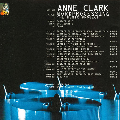 Play & Download Wordprocessing (The Remix Project) by Anne Clark | Napster