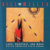 Loon, Mountain , And Moon by Bill Miller