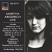 Play & Download Chopin, Liszt & Profokiev: Piano Works (Live) by Martha Argerich | Napster