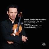 Play & Download Shostakovich: Violin Concerto No. 2, Op. 129 & Tchaikovsky: Violin Concerto, Op. 35 by Linus Roth | Napster