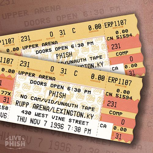 Play & Download PHISH: 11/07/96 Rupp Arena, Lexington, KY (Live) by Phish | Napster