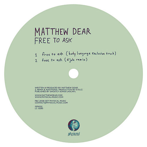 Play & Download Free To Ask by Matthew Dear | Napster
