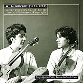 Mozart: Duos for Violin and Viola - Handel: Variations for Violin and Viola by Sergi Alpiste