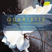 Play & Download C.P.E. Bach: Quartettes for Keyboard, Flute & Viola by Linde Brunmayr-Tutz | Napster