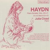 Haydn: Piano Sonatas Nos 38, 51 & 52 by Julia Cload