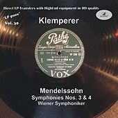LP Pure, Vol. 30: Klemperer Conducts Mendelssohn by Wiener Symphoniker