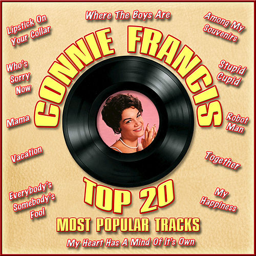 Top 20 Most Popular Tracks by Connie Francis