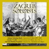 Play & Download Johann Sebastian Bach: Concerto in D Minor BWV 1060 / Antonio Vivaldi: Concerto Grosso in D Minor, Op. 3 No. 11 / Giovanni Battista Pergolesi: Concerto No. 1 harmonic in G Major by Zagreb Soloists | Napster
