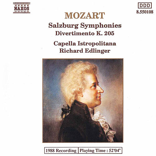3 Salzburg Symphonies / Divertimento K. 205 by Wolfgang Amadeus Mozart