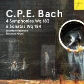 Play & Download C. P. E. Bach: 4 Sinfonien Wq 183, 6 Sonaten Wq 184 by Ensemble Resonanz | Napster