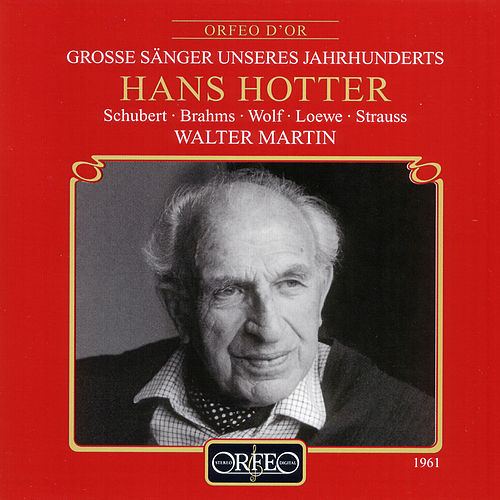 Schubert, Brahms & Strauss: Lieder by Hans Hotter