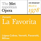 Play & Download Donizetti: La Favorita (March 11, 1978) by Various Artists | Napster