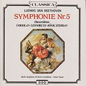 Beethoven: Symphony No. 5, Coriolan, Leonora Overture No. 3 & King Stephan Overture by Various Artists