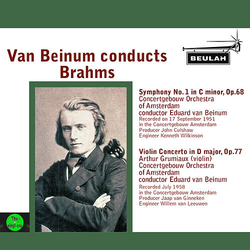 Van Beinum Conducts Brahms by Eduard Van Beinum