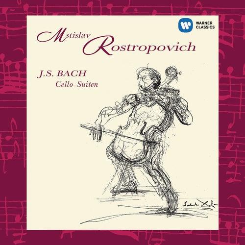 Bach: Suites for Solo Cello Nos 1 - 6 de Mstislav Rostropovich