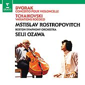 Play & Download Dvorák: Cello Concerto - Tchaikovsky: Variations on a Rococo theme by Mstislav Rostropovich | Napster