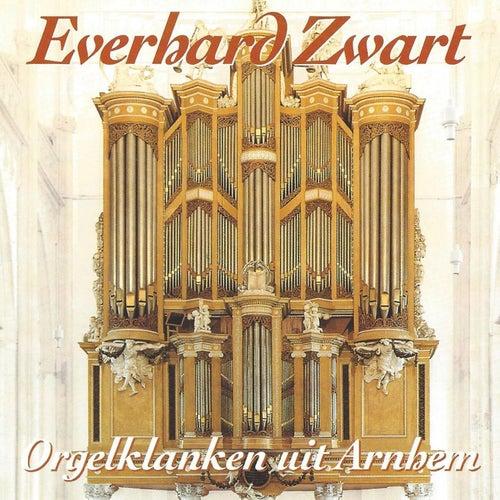 Everhard Zwart bespeelt het Orgel van Eusebiuskerk, te Arnhem de Everhard Zwart