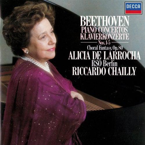 Beethoven: Piano Concertos Nos. 1-5; Choral Fantasia by Riccardo Chailly