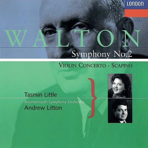 Walton: Violin Concerto; Symphony No. 2; Scapino by Andrew Litton