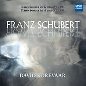Schubert: Piano Sonata No. 18 in G Major, D. 894; Piano Sonata No. 20 in A Major, D. 959 by David Korevaar