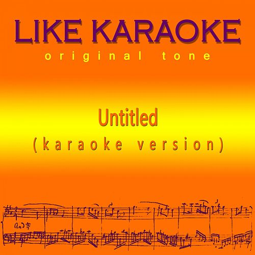 Untitled de Like Karaoke original tone