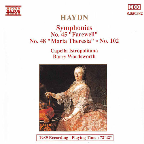 Symphonies Nos. 45, 48 and 102 by Franz Joseph Haydn