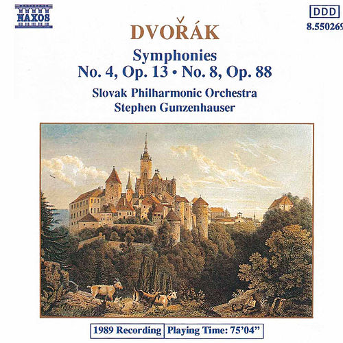 Symphonies Nos. 4 and 8 by Antonin Dvorak