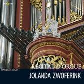 Jolanda Zwoferink bespeelt het hoofdorgel van de Grote of St. Laurenskerk in Rotterdam by Jolanda Zwoferink