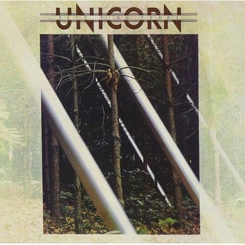 Blue Pine Trees by Unicorn