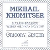 Mikhail Khomitser. Marais, Paganini, Weber, Glinka, Davydov by Grigory Zinger