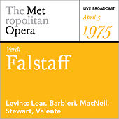 Play & Download Verdi: Falstaff (April 5, 1975) by Various Artists | Napster