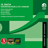 Bach: Concertos for 2, 3 and 4 Organs, BWV 1060, 1061, 1062, 1604 & 1605 (Collection 25e anniversaire) by Nicolas Mazzoleni