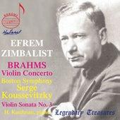 Brahms: Violin Concerto & Violin Sonata No. 3 by Efrem Zimbalist
