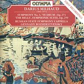 Darius Milhaud: Symphony No. 3, Op. 271; The Bells, Op. 259 & Saudades do Brasil, Op. 67 by Russian State Symphony Cappella