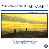 Mozart: Symphonies No. 5, 11, 21 + 27 by Eduardo Marturet