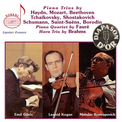 Piano Trios by Haydn, Mozart, Beethoven, et al. by Emil Gilels