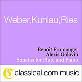 Ferdinand Ries, Sonata For Flute And Piano No. 5 In E Flat Major, Op. 169 (Sentimental) by Benoît Fromanger