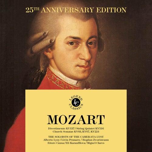 W. A. Mozart - 25th Anniversary Edition: Divertimento KV137 - Church Sonatas KV68, KV67, KV224 - String Quintet KV516 von Camerata Lysy