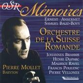 Brahms: 4 Ernste Gesänge - Duparc: 3 Mélodies - Ravel: Don Quichotte à Dulcinée - 5 Mélodies Populaires Grecques - Poulenc: 6 Chansons Villageoises - Vellones: 5 Epitaphes (Live) by Pierre Mollet